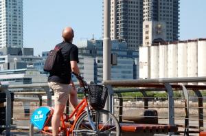 urban cycling Santiago